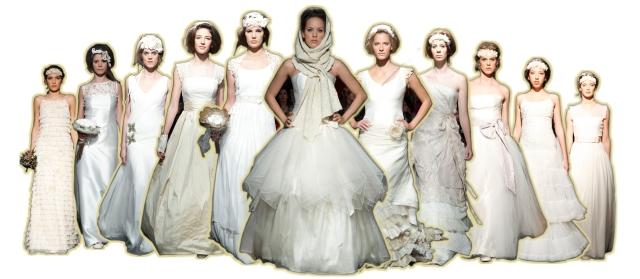 Imágenes de la coleccion de novia 2013 en la pasarela de GETXO-MODA