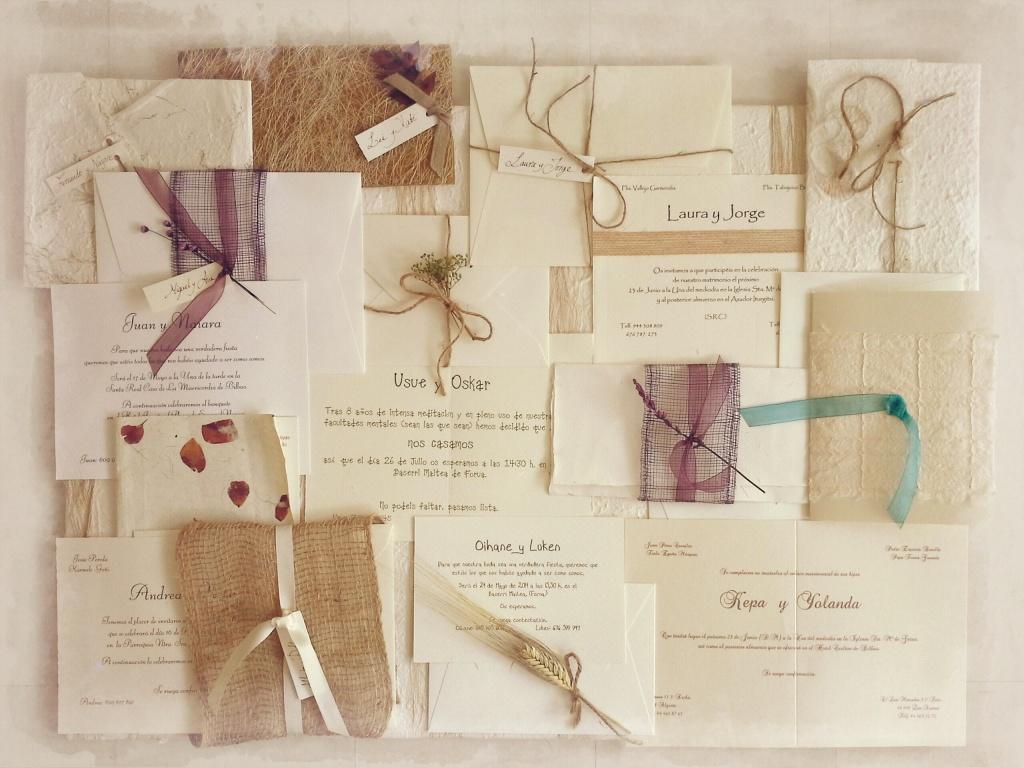 invitaciones artesanales NOVELLE
