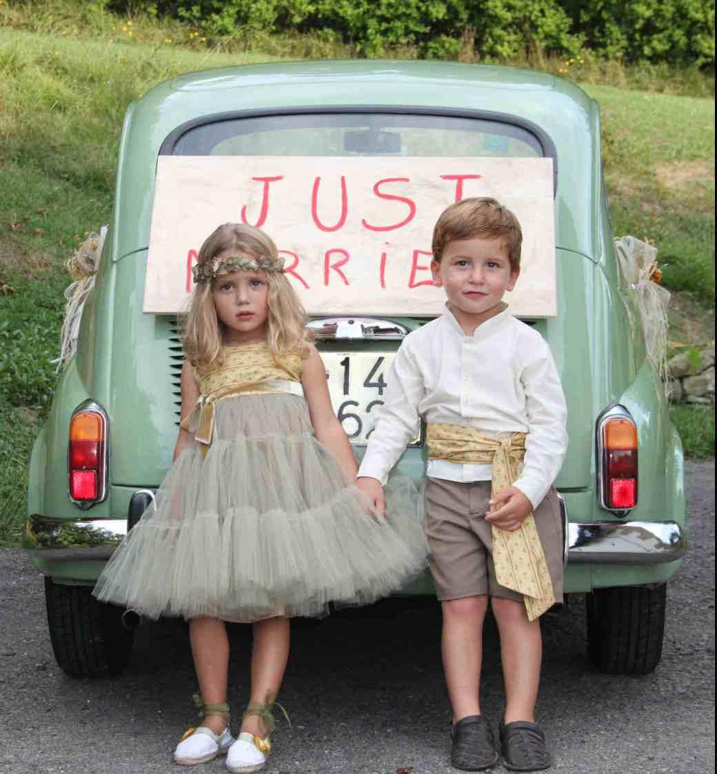 jon y paula NOVELLE novias, trajes de arras