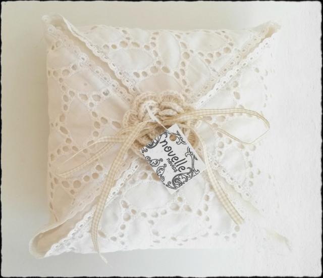 Novelle novias - cojín anillos boda