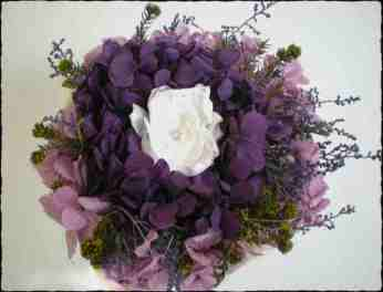 Bouquet Hortensia morada y gardenia