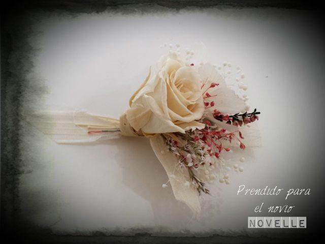 Novelle novias-Prendido flor preservada
