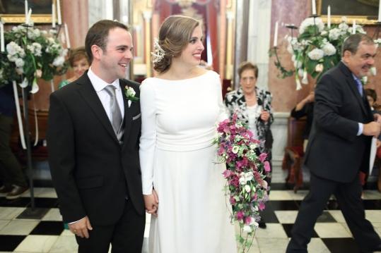 Guiomar con vestido de NOVELLE novias, inspiración años 30