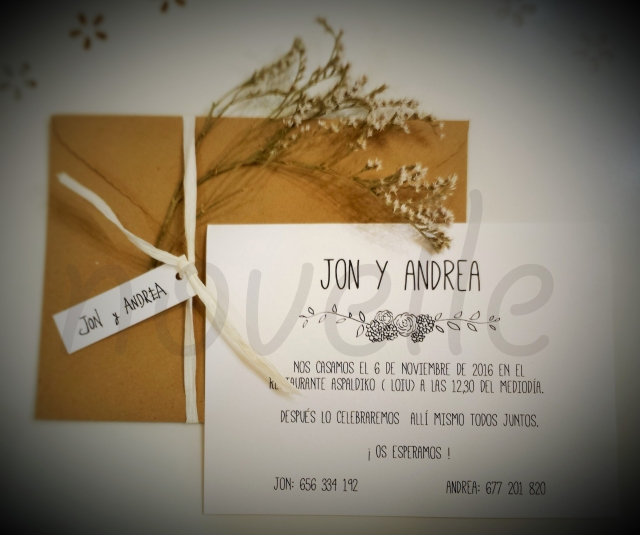 NOVELLE invitaciones de boda para 2016