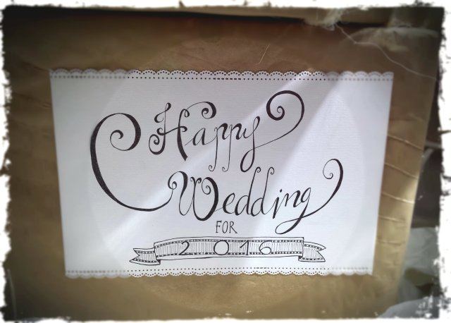 Novelle novias- Navidad 2015, Cartel lettering realizado por Novelle