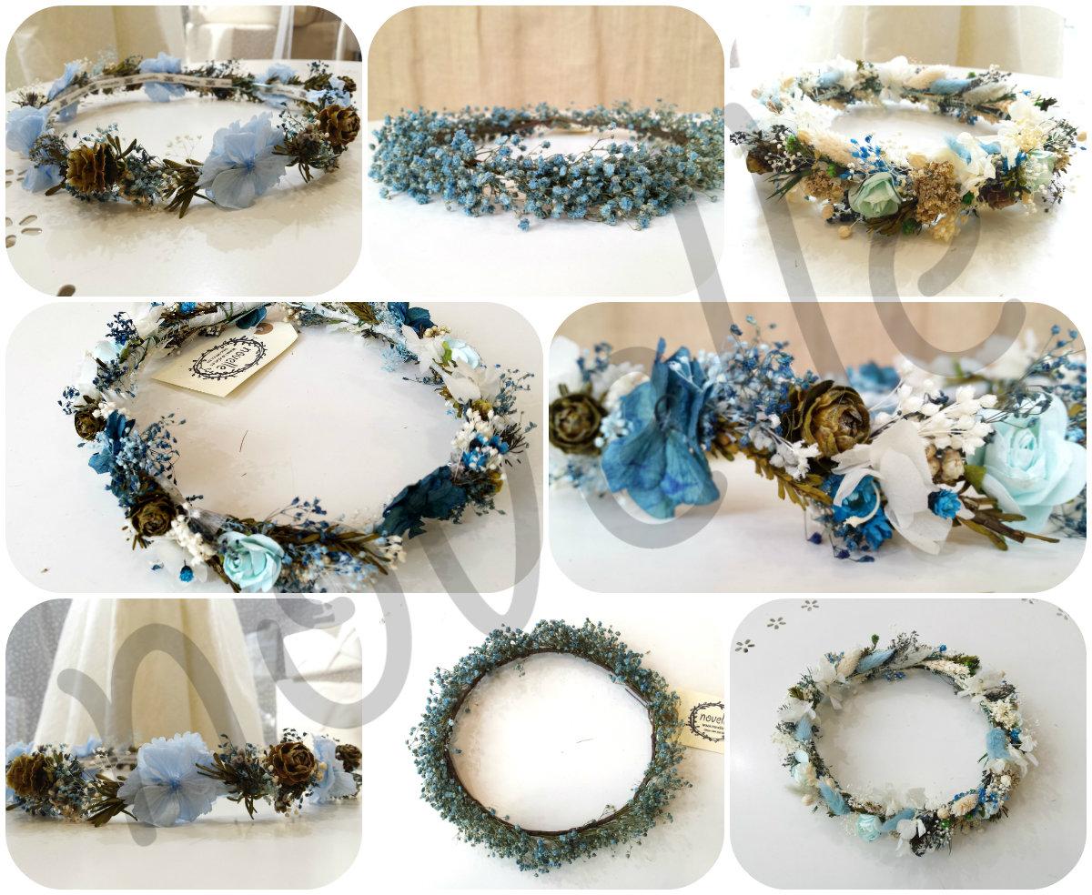 Nuevas Coronas de flores preservadas para nias y novias NOVELLE