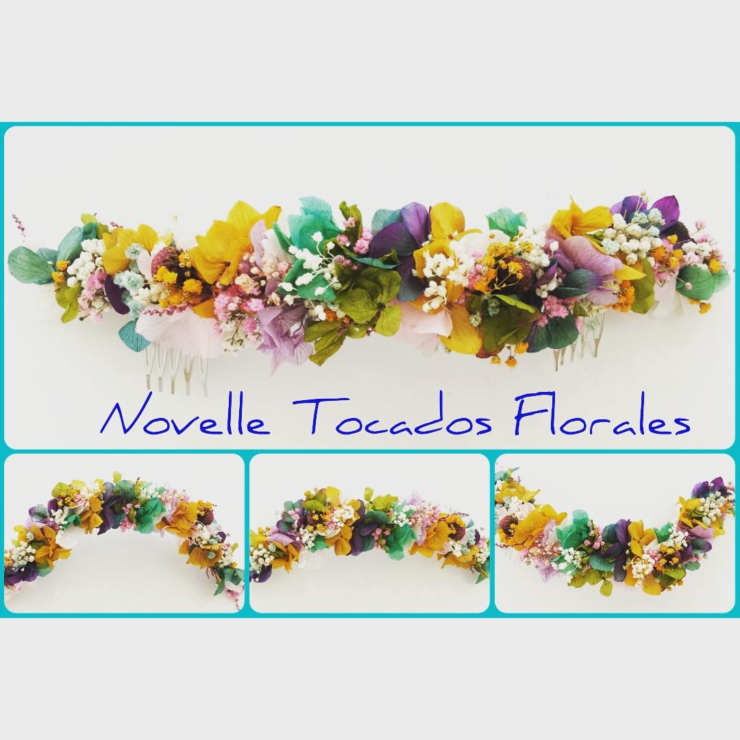 tocado floral NOVELLE