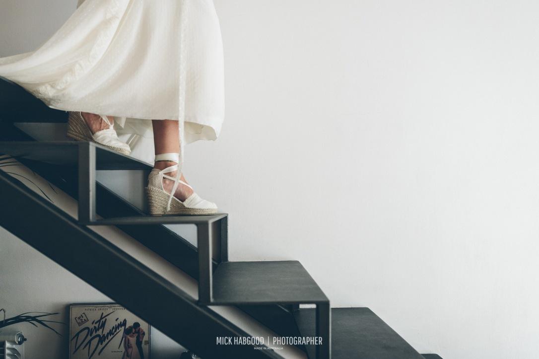 Vestido y Alpargatas NOVELLE -Vanessa & Iñaki, 2017. Mick Habgood Photographer.