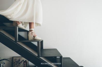 Vestido y Alpargatas NOVELLE Vanessa & Iñaki, 2017. Mick Habgood Photographer.