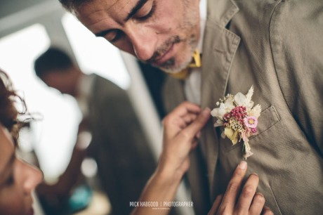 Prendido Flor preservada NOVELLE -Vanessa & Iñaki, 2017. Mick Habgood Photographer.