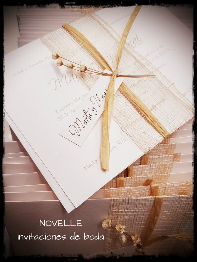 invitaciones de boda NOVELLE