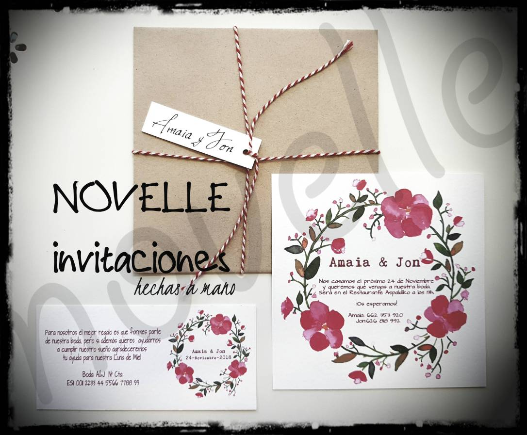 NOVELLE invitación flores rosas