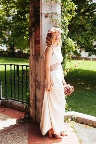 Vestido, ramo y Tocado: NOVELLE - Foto: Kunst Fotografia