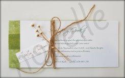 NOVELLE invitación hecha a mano personalizada SOBRE NATURAL VERDE
