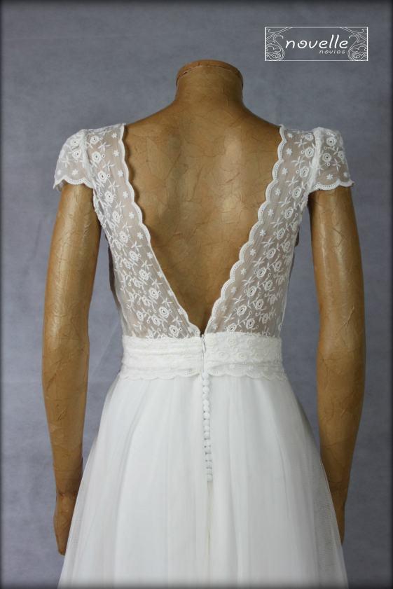 Vestido Dorleta ( detalle espalda) - NOVELLE novias