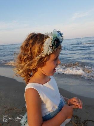 Novelle Arras - Vestido y Corona flor preservada