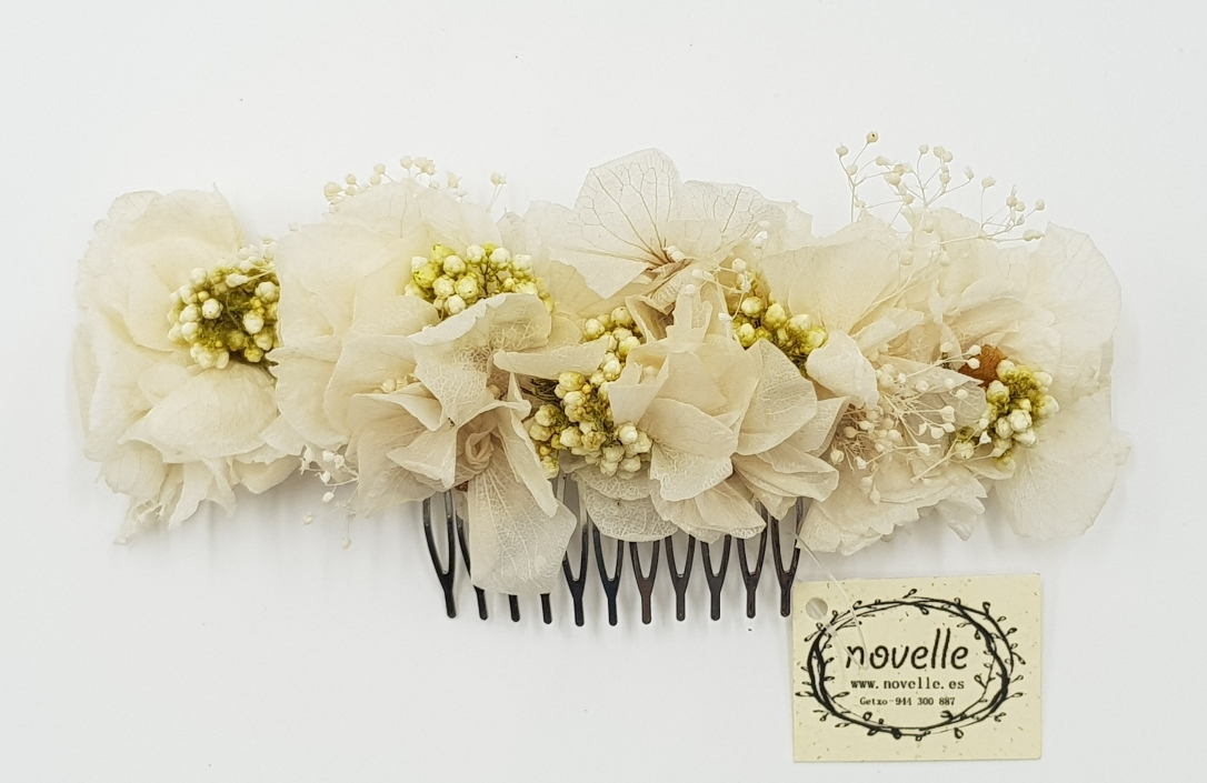 NOVELLE - peineta flor preservada